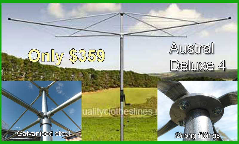 Austral Deluxe 4  rotary clothesline