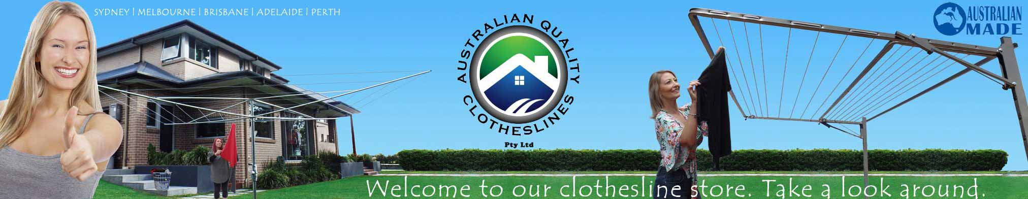 Australian Quality clotheslines main banner