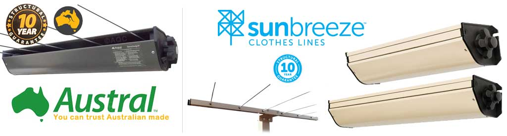 Retractable clothesline banner