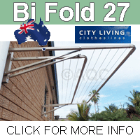 City Living Bi Fold 27 fold down clothesline