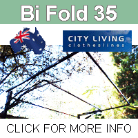 City Living Bi Fold 35 fold down clothesline