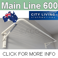 City Living Main Line 600 clothesline