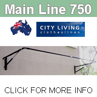 City Living Main Line 750 clothesline