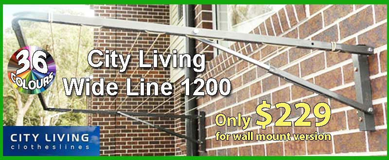 City living Wide Line 1200 fold down clothesline