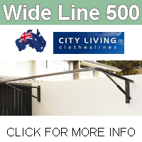 City Living Wide Line 500 clothesline