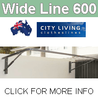 City Living Wide Line 600 clothesline