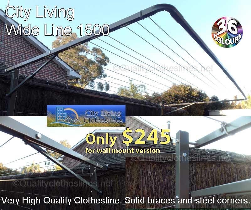 City living Wide Line 1500 fold down clothesline