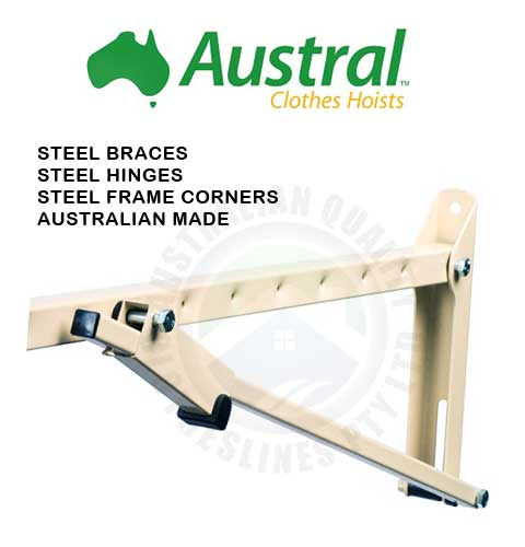 Austral steel arms and braces