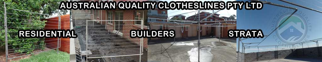 clothesline for residential, builders and strata