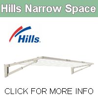 Hills Narroe Space clothesline