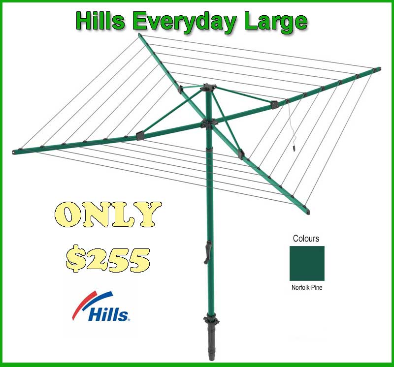 Hills everyday  large folding rotary  clothesline
