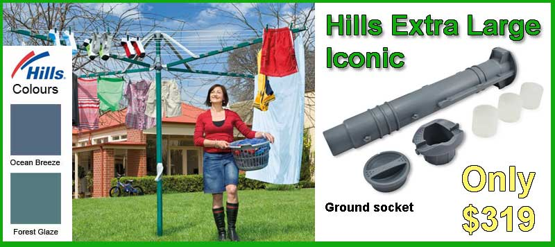 Hills Large Extra Iconic folding rotary  clothesline