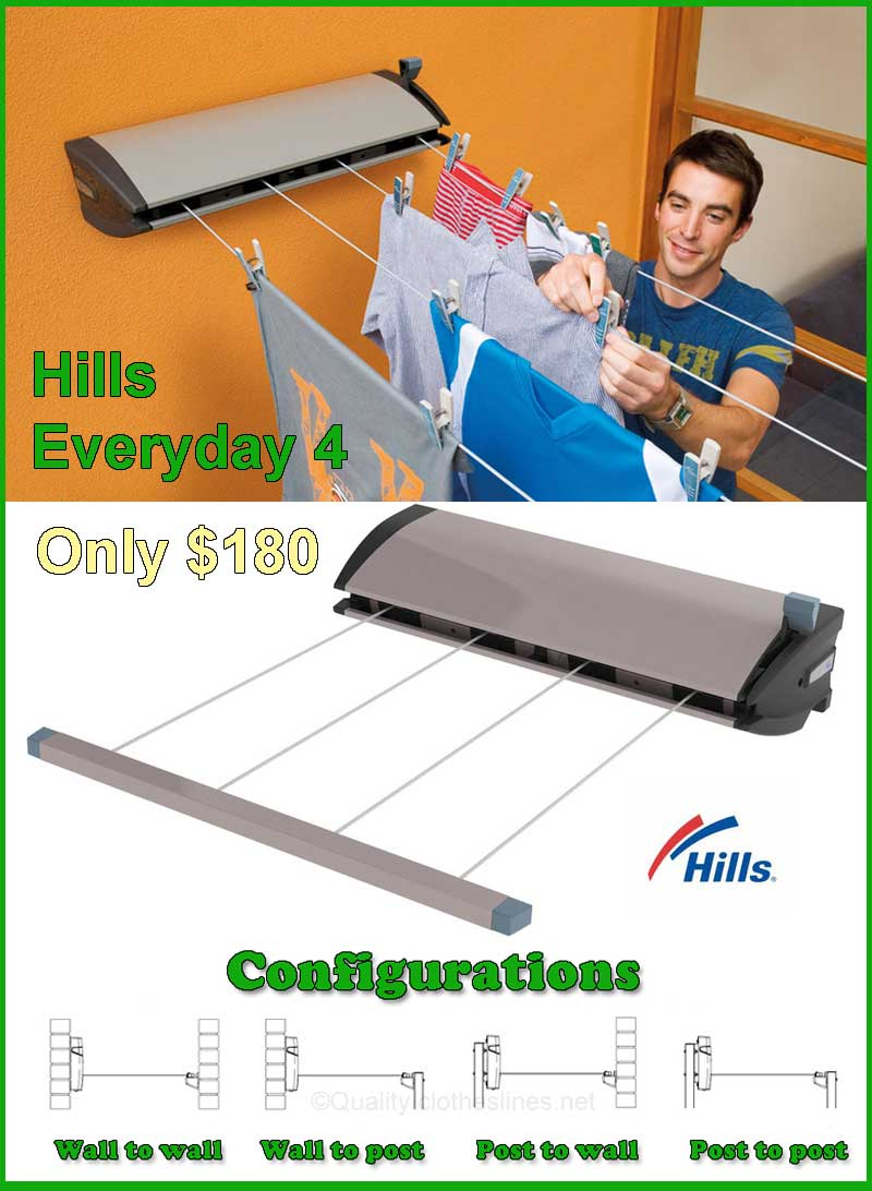 Hills Large 4 retractable clothesline