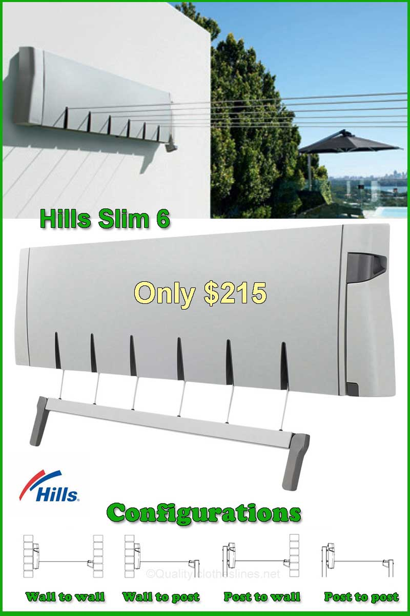 Hills slim 6 retractable clothesline