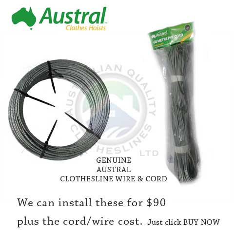 Austral clothesline cord and wire