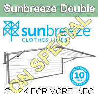 Sunbreeze Double fold down clothesline images