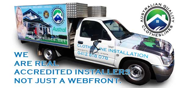 Accredited clothesline installers