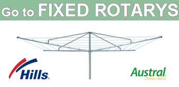 Fixed rotary clotheslines