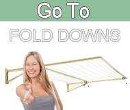 Fold down clotheslines